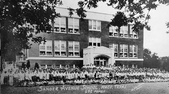 A historic Fred Gildersleeve photo captures Sanger Avenue Elementary School during better days.